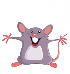 Happy mouse vector