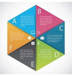 Infographics hexagon paper vector