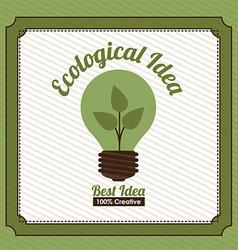 Ecological idea design vector