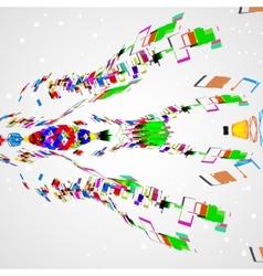 Futuristic abstract shape vector