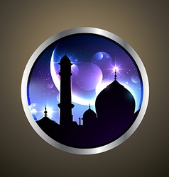 Mosque label vector