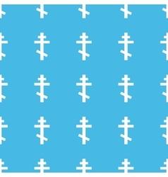 Orthodox cross straight pattern vector