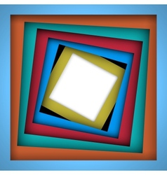 Colorful paper square and frame background vector
