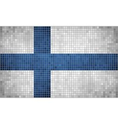 Mosaic flag of finland vector