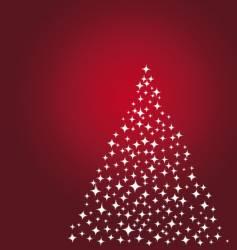 Stars christmas tree vector