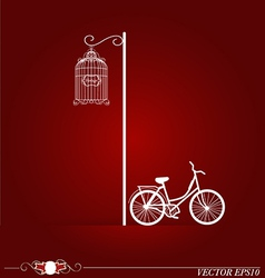 Bicycle in park background vector