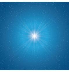 Shining star vector