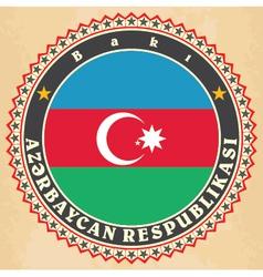 Vintage label cards of azerbaijan flag vector