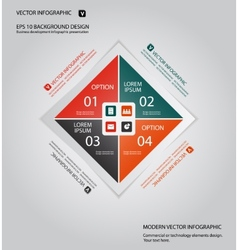 Modern business infographic background vector