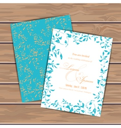 Greeting cards with grunge leaves vector