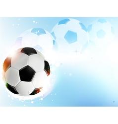 Soccer ball on blue background vector