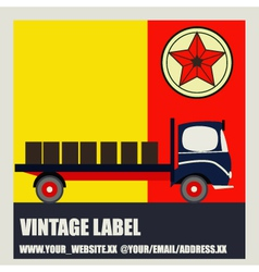 Transport retro label vector