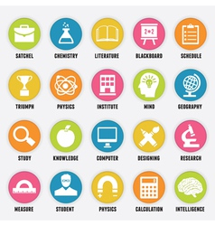 Set of education icons - part 1 vector