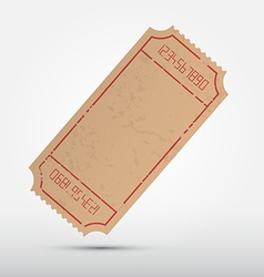 Empty ticket isolated on grey background vector