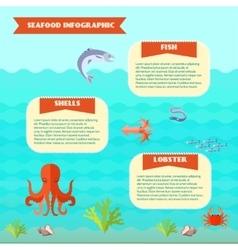 Sea food infographics vector