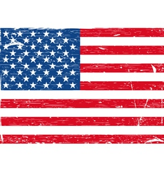 Usa flag grunge vector