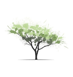 Ink splits pine tree vector