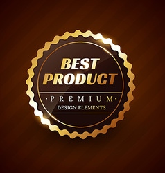 Best product premium label design vector