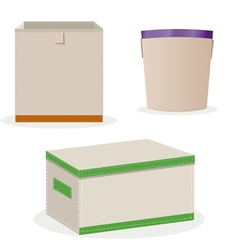 Boxes of toys vector
