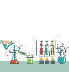 Chemistry infographic icon set vector