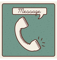 Message icon vector