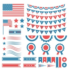 Collection of united states of america decoration vector