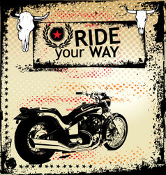 Ride your way background vector