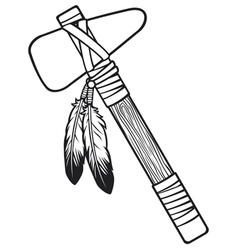 Native american tomahawk vector