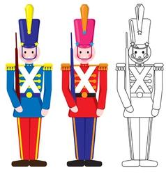 Vintage happy toy soldier vector