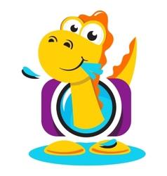Dinosaur photographer logo vector