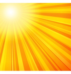 Sunbeams in yellow and orange colors vector