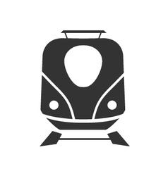 Icon train minimalist vector