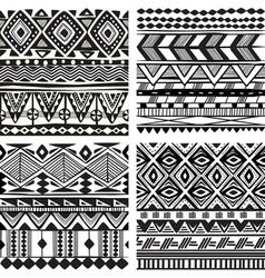 Seamless tribal texture vector