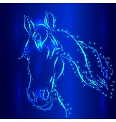 Horse sketch greeting card vector
