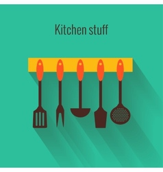 Flat concept for cooking vector