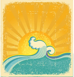 Sunrise seascape vector
