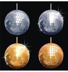 Disco-ball set vector