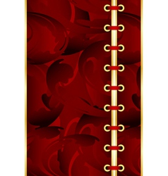 Red corset background vector