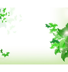 Environmental background with green leaf vector