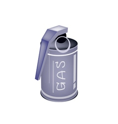A tear gas grenade on white background vector