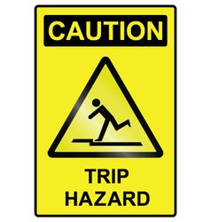 Trip hazard sign vector