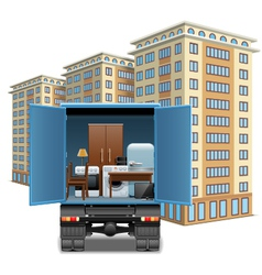 Furniture transportation vector