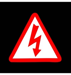 Yellow sign with high voltage icon vector