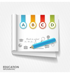 Flat online education vector
