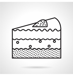 Piece of cake black line icon vector