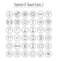 Travel tourism and weather icons set 2 vector