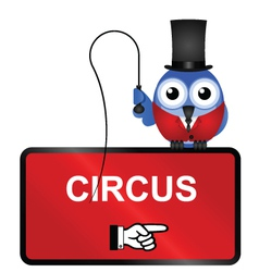Comical circus sign vector