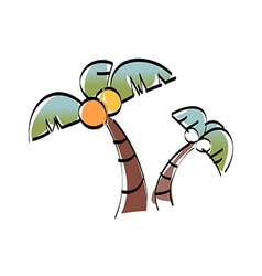 A palm tree vector