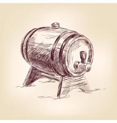Cask of wine drawing vector