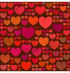 Retro valentines day seamless pattern with hearts vector